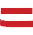 grunge austria flag or banner vector image
