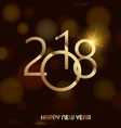 happy new year background with gold text vector image vector image