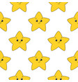 happy star colored seamless pattern with cute vector image vector image
