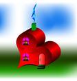house like heart vector image vector image