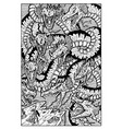 hydra water serpent monster engraved fantasy vector image vector image