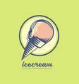 ice cream logo design vector image vector image