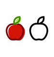 icon fresh apple colorful of vector image