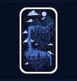 imaginary adventure stickers vector image
