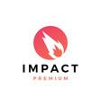 impact logo icon vector image vector image