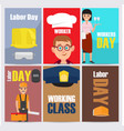 international labor day themed set vector image vector image