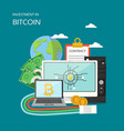investment in bitcoin concept flat vector image