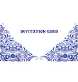 invitation card in style of national painting on vector image vector image