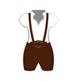isolated traditional oktoberfest clothes for men vector image
