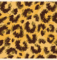 leopard print seamless doodle drawing vector image