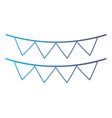 line cute party flag decoration design vector image vector image