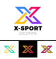 linear letter x logo monogram simple sport vector image
