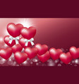 love concept design of heart balloon vector image vector image