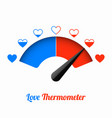 love thermometer valentines day card design vector image vector image