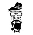 mens day concept background simple style vector image