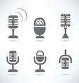 microphones set vector image vector image