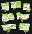 modern sale banners and labels collection 02 vector image vector image