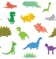 Pixel art dinos seamless pattern vector image vector image