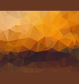 polygon background sunset horizontal vector image vector image