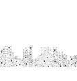 polygon city vector image vector image
