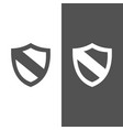 protection shield icon on black and white vector image