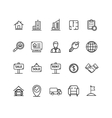 Real Estate Outline Icon Set vector image