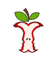 red apple fruit with man and woman silhouette vector image vector image