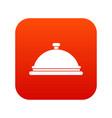 restaurant cloche icon digital red vector image vector image