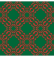 Seamless abstract red green pattern vector image vector image