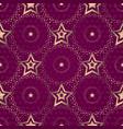 seamless purple pattern wiith gradient golden vector image