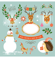 set christmas and new year s graphic elements vector image vector image