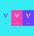 set letter v minimal logo icon design template vector image
