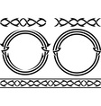 set of patterns and rings stencils vector image vector image
