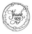 sketch thank vector image vector image