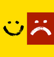 smiling and angry emoticon emoji positive and vector image