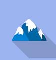 snow cap mountain icon flat style vector image
