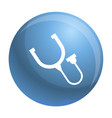 stethoscope thermometer icon simple style vector image vector image