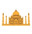 Taj Mahal isolated on white vector image vector image