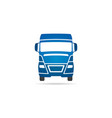 truck logo vector image vector image