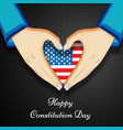 usa constitution day vector image vector image