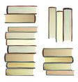 vintage books set study school knowledge vector image vector image