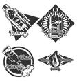 Vintage Water delivery emblems vector image vector image
