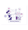 webinar and employees training distance education vector image vector image