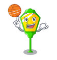 with basketball lamps post collection in a cartoon vector image