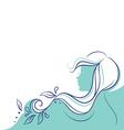 profile woman vector image