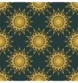 vintage turquoise and gold seamless pattern vector image