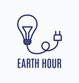 earth hour logo vector image