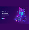 5g network technology isometric concept vector image