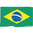 abstract brazilian flag or banner vector image