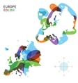 Abstract color map of Europe vector image vector image